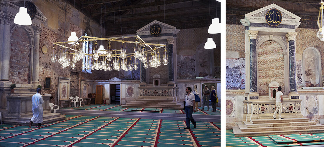 Christoph Büchel's mosque for the Icelandic Pavilion at the 56th Venice Biennale. Photos by Alex John Beck for Artsy.