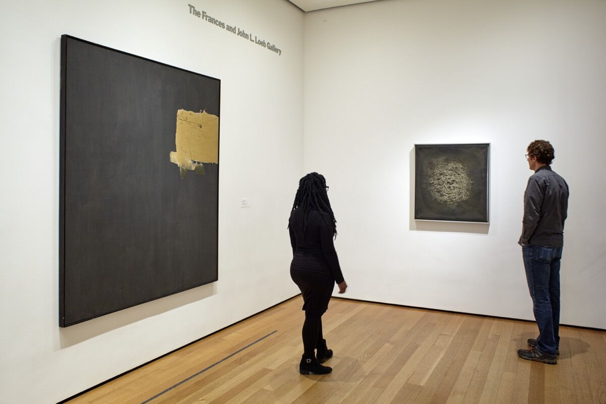 Work by Marcos Grigorian, right. Installation view of the collection galleries at The Museum of Modern Art, New York. Photo by Robert Gerhardt, courtesy of MoMA.