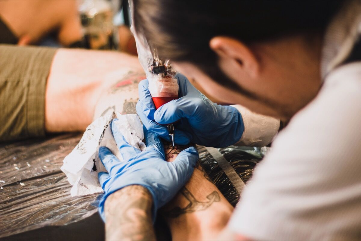 Hiroshi Hirakawa of Three Tides Tattoo in Osaka, Japan for UBIQ x Vault by Vans. Photo by Justin Wolfe, via Flickr.