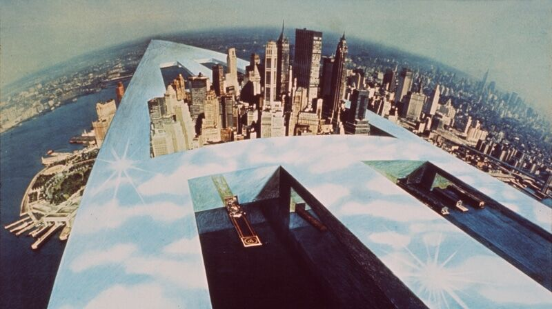 """New New York"" from Il Monumento Continuo, Superstudio 1969. Image courtesy of Cristiano Toraldo di Francia"