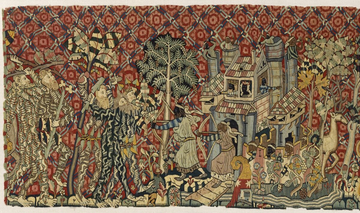 Detail of Tapestry with Wild Men and Moors, Alsace, Strasbourg, ca. 1440. Photo © 2017 Museum of Fine Arts, Boston. Courtesy of the Museum of Fine Arts, Boston.