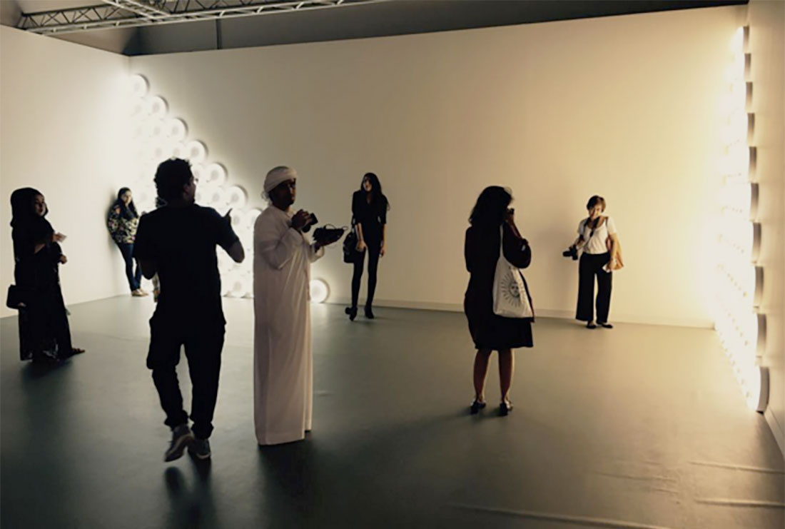 Installation view of David Zwirner's booth at Abu Dhabi Art, 2015. Photo via @abudhabiart on Instagram.