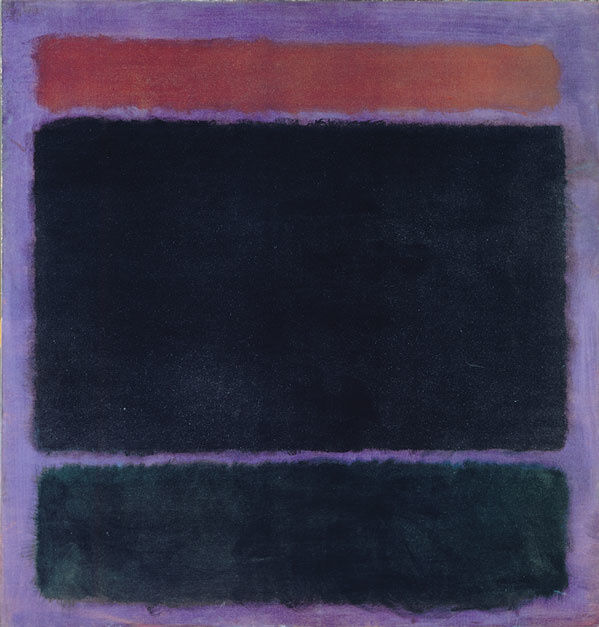 Mark Rothko, Untitled (Rust, Blacks on Plum), 1962. © 1998 Kate Rothko Prizel & Christopher Rothko / Artists Rights Society (ARS), New York. Photo courtesy The Mark Rothko Foundation and Pace Gallery.