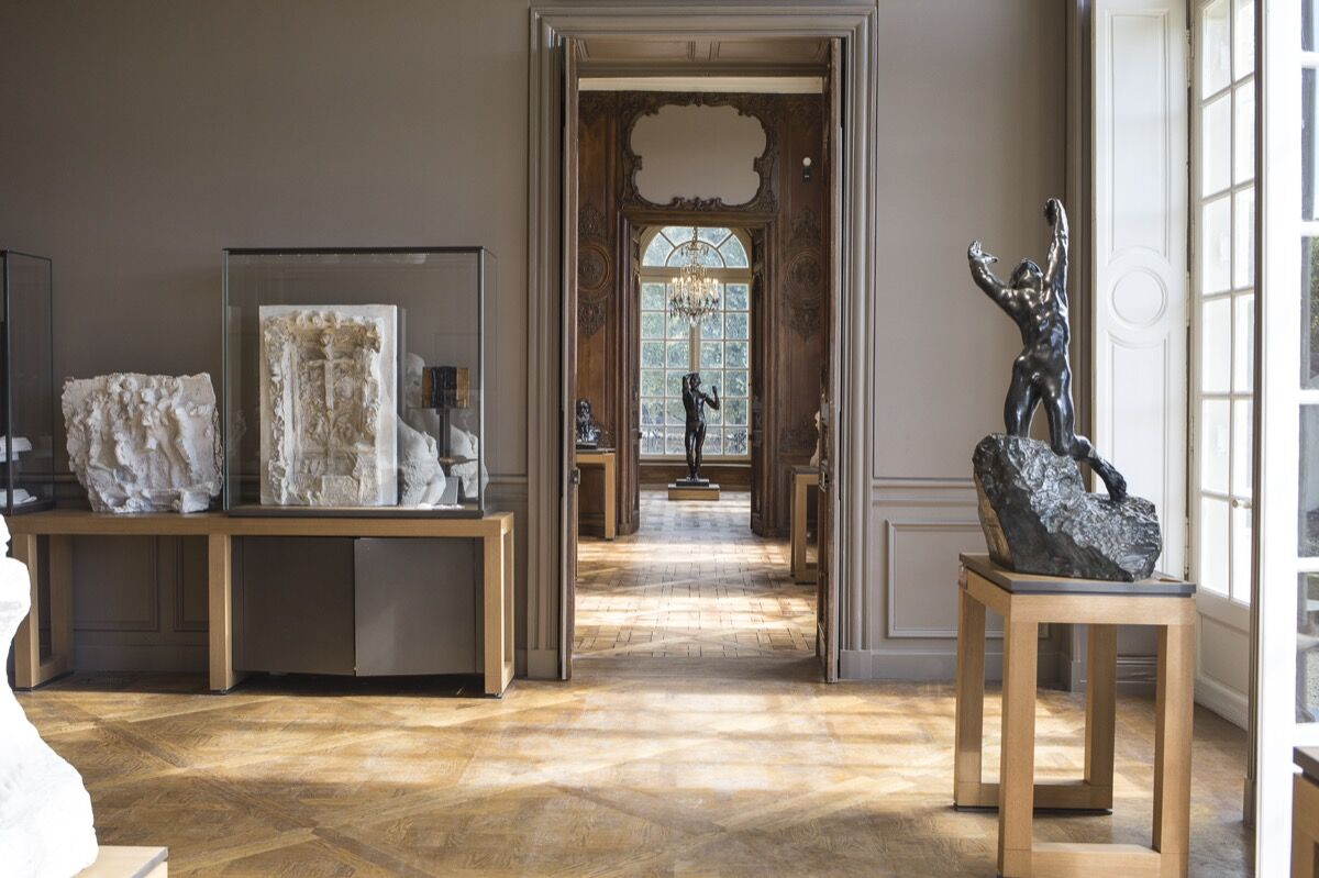 Interior view of the Rodin Museum. Courtesy of the Rodin Museum.