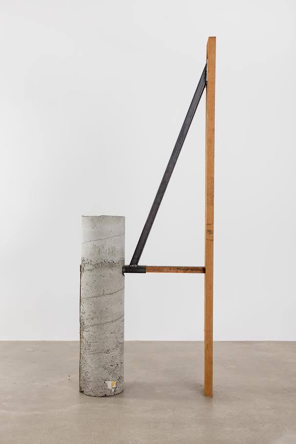 Oscar Tuazon, Concrete Steel Douglas Fir, 2015. Courtesy of Salon 94, Salon 94 Design, Maccarone Gallery and the artist.