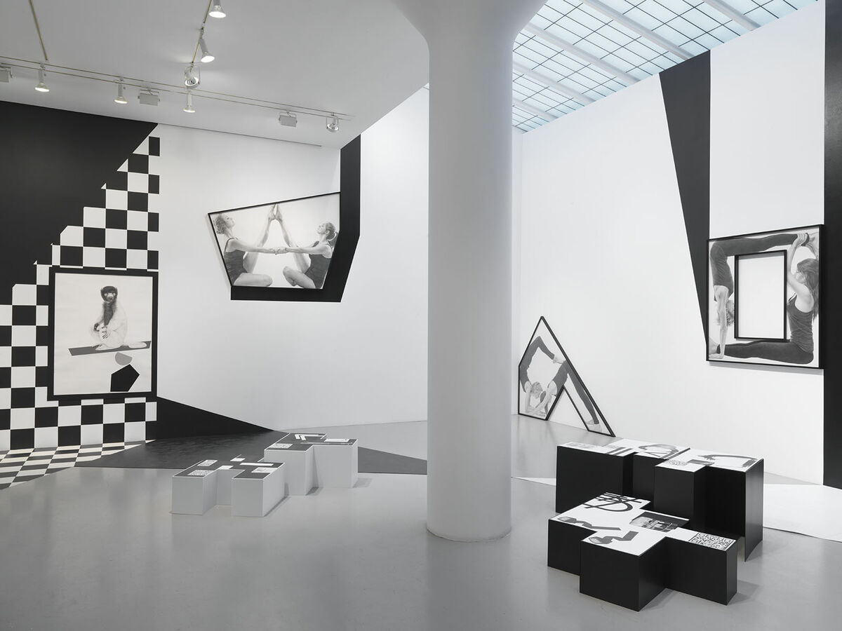 "Installation view ""Karl Haendel: Organic Bedfellow, Feral Othello."" Courtesy Mitchell Innes & Nash, New York."