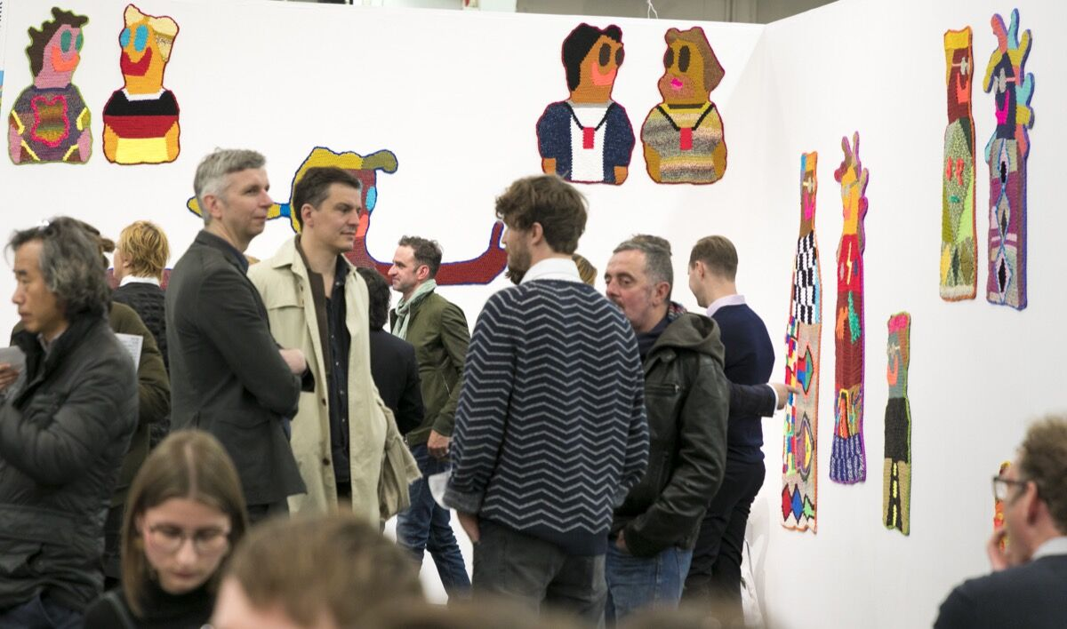 Installation view of Galerie Crone's booth at Art Cologne, 2017. Courtesy of Art Cologne.