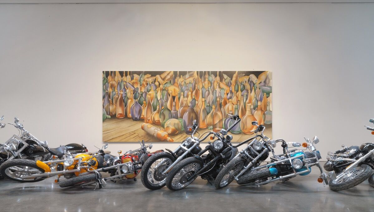 "Installation view of Dan Colen, ""Poetry,"" at Gagosian Gallery, 2010. Courtesy of Gagosian."