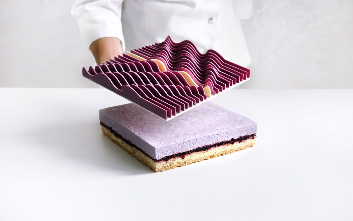 Dinara Kasko, Algorithmic Modeling Cake, from Geometric Desserts, 2015–17. Courtesy of Dinara Kasko.