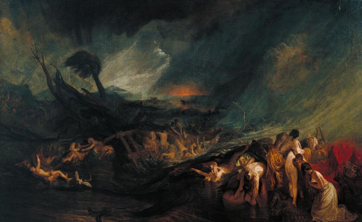 J.M.W. Turner, The Deluge, 1805. Image via Wikimedia Commons.