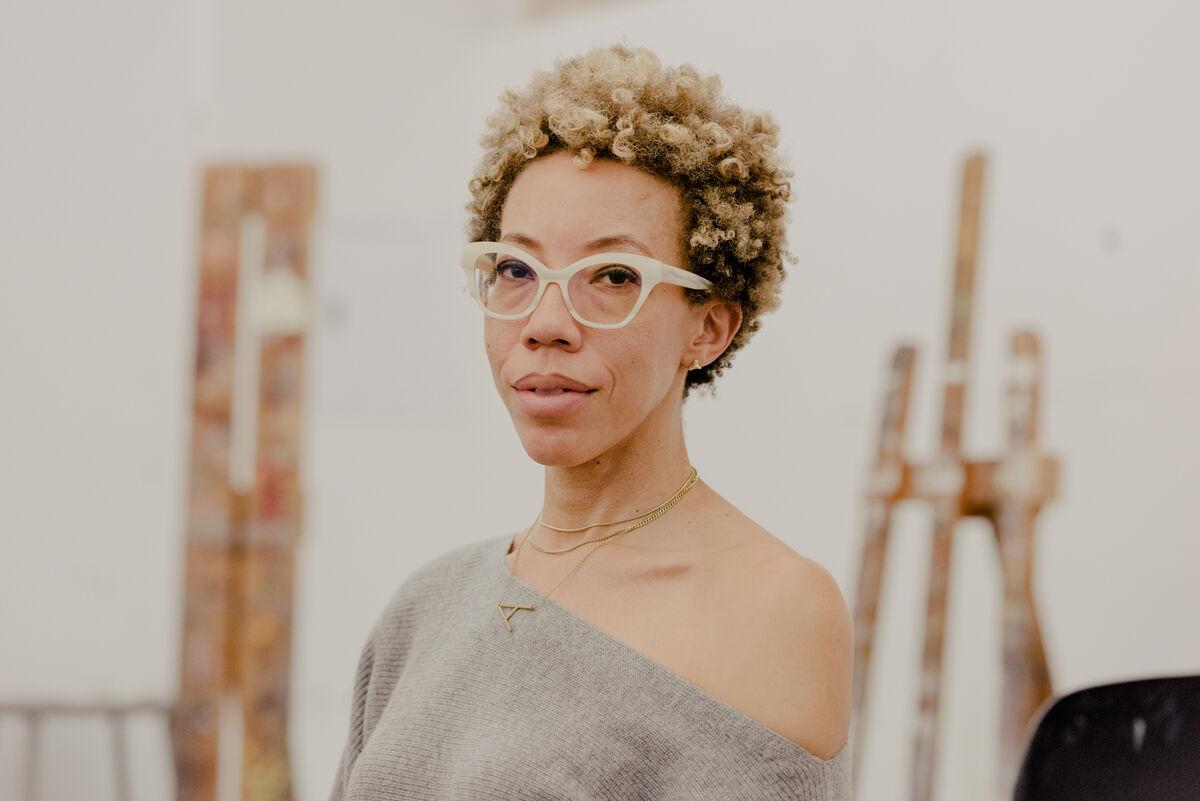 Portrait of Amy Sherald by Daniel Dorsa for Artsy.