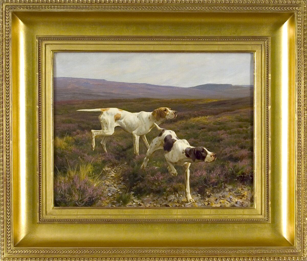Thomas Blinks, Pointers in a Landscape. Courtesy of William Secord Gallery.