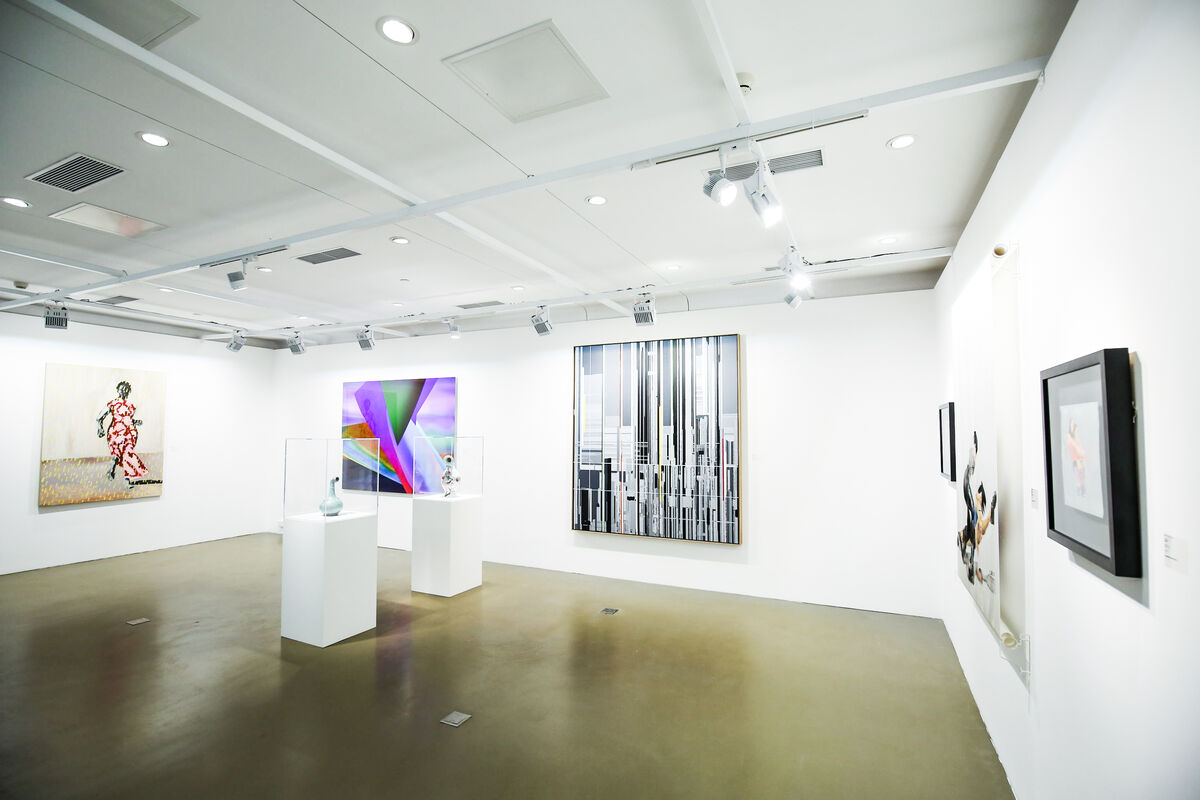 Installation view of Long March Space's booth at JINGART, Beijing, 2018. Courtesy of  JINGART.