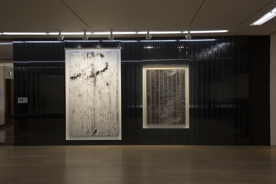 """Installation view of """"Gregor Hildebrandt: Coming by Hazard,"""" Galerie Perrotin, Hong Kong. Photograph: Vincent Tsang Courtesy Galerie Perrotin"""