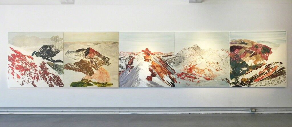 "Installation view of ""Kuo Chih-Hung: Everywhere, No Where, Now Here,"" courtesy Aki Gallery."