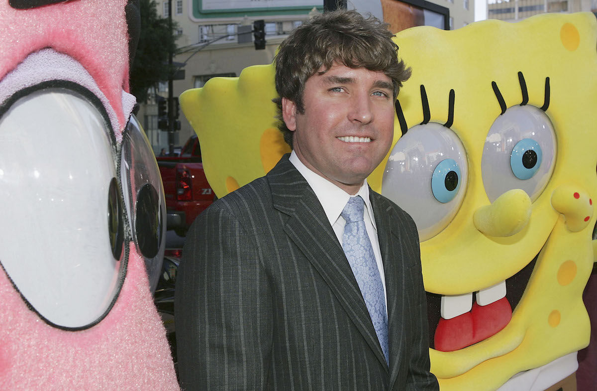 Stephen Hillenburg at the film premiere of The SpongeBob SquarePants Movie (2004). Photo by Mark Mainz/Getty Images.