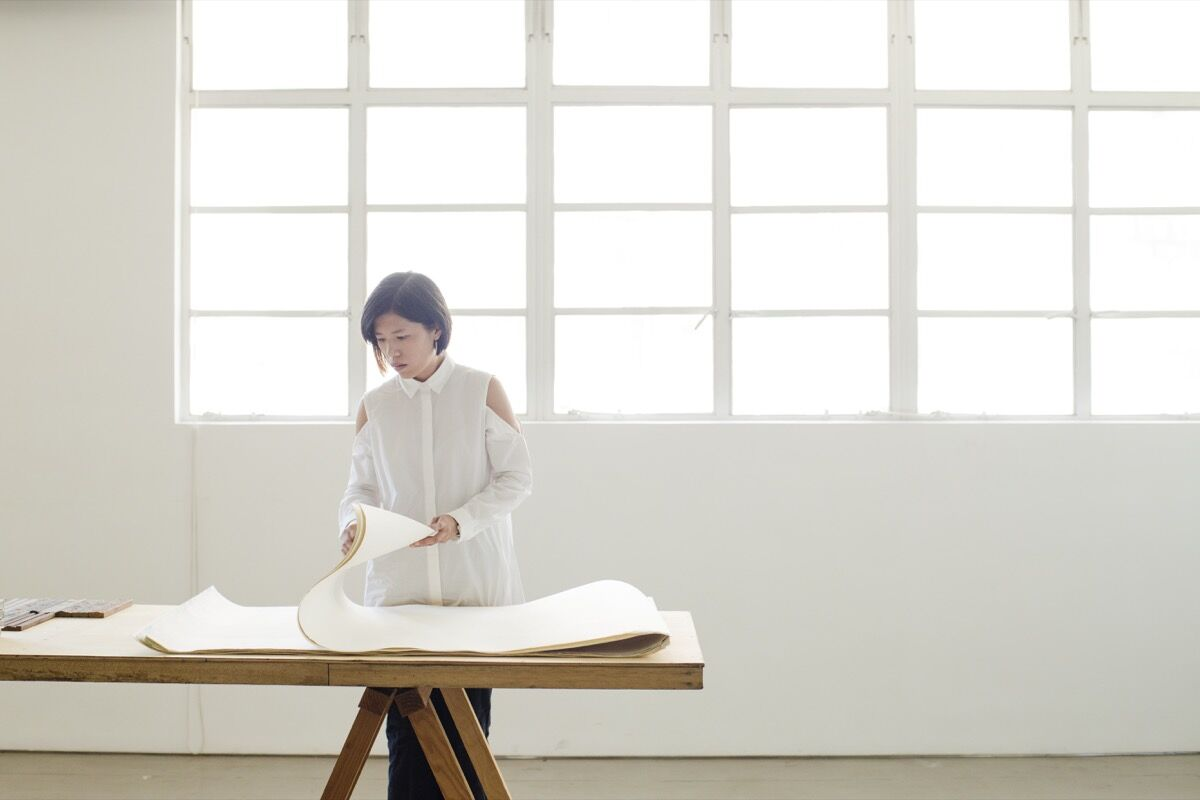 Portrait of Wong Wai Yin at Spring Workshop, Hong Kong, by Amanda Kho for Artsy.