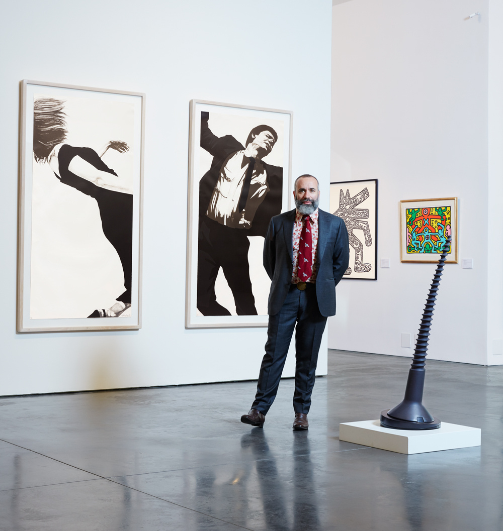 Cary Leibowitz alongside works by Claes Oldenburg, Robert Longo and Keith Haring