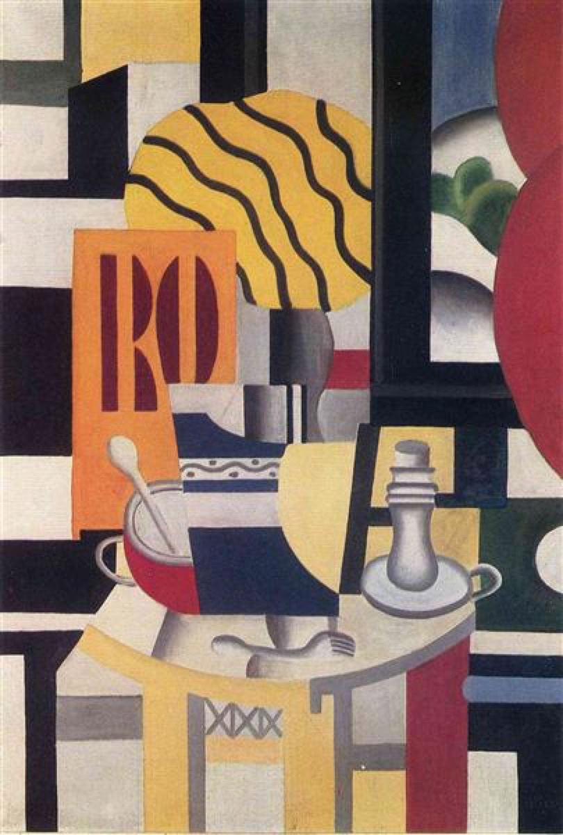 Fernand Leger, Nature Morte aux Chandeliers (Still Life with Candle), 1922. © Fernand Leger.
