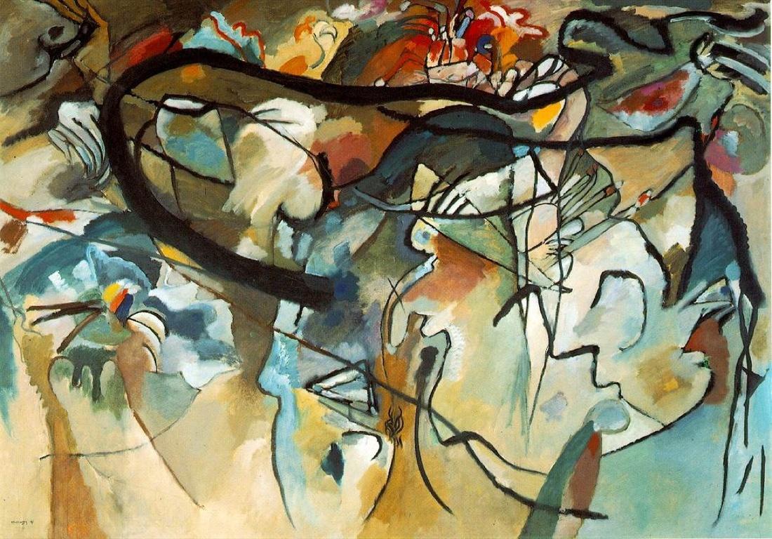 Wassily Kandinsky, Composition V, 1911. Image via Wikimedia Commons.