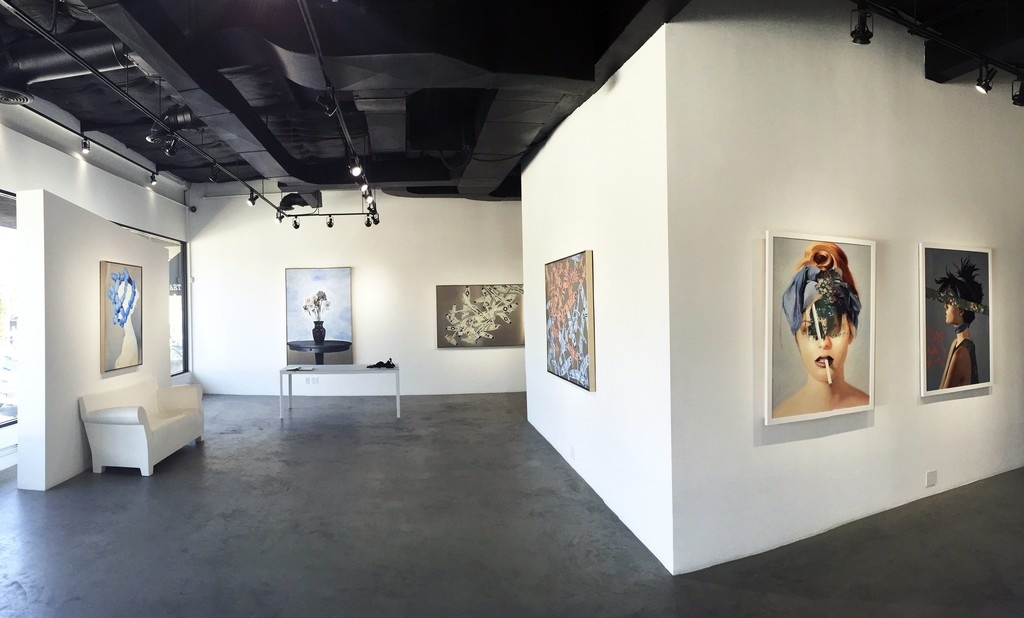 """Installation view of""""The Folly of Youth,"""" courtesy of De Re Gallery"""