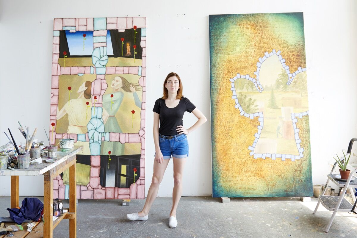 Portrait of Anna Glantz in her Long Island City, NY studio by Kyle Knodell for Artsy.