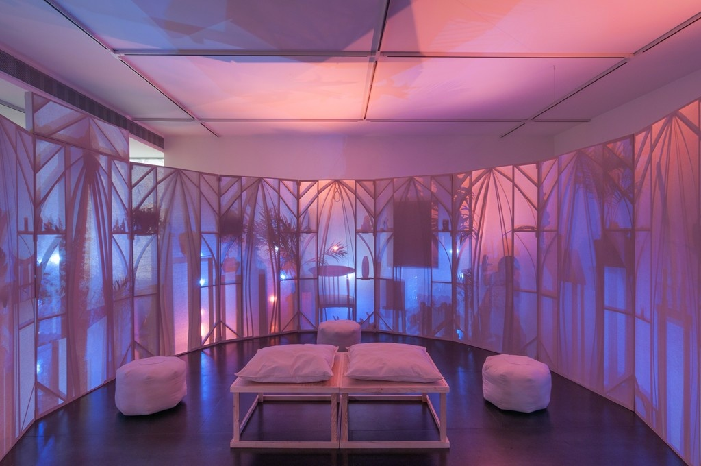 "The interior of Srijon Chowdhury's ""Memory Theater."" Image courtesy of Upfor."