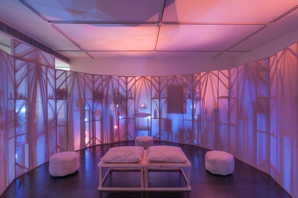 "The interior of SrijonChowdhury's""Memory Theater."" Image courtesy ofUpfor."