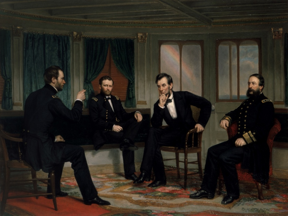 George Peter Alexander Healy,The Peacemakers,1868.Image courtesy of the White House Collection/White House Historical Association.