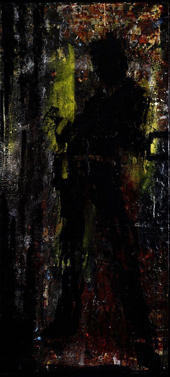 Richard Hambleton, Standing Shadow – Yellow & Red. © AVA Holdings Limited.