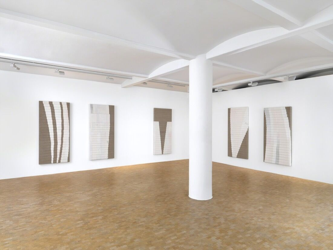 "Installation view of Luke Diiorio's ""Sunset Park."" Image courtesy of Pippy Houldsworth Gallery."