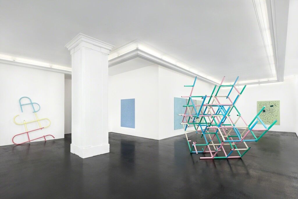 "Installation view, ""Muscle Memory: Donna Huanca & Przemek Pyszczek"" at Peres Projects, Berlin. Courtesy Peres Projects."