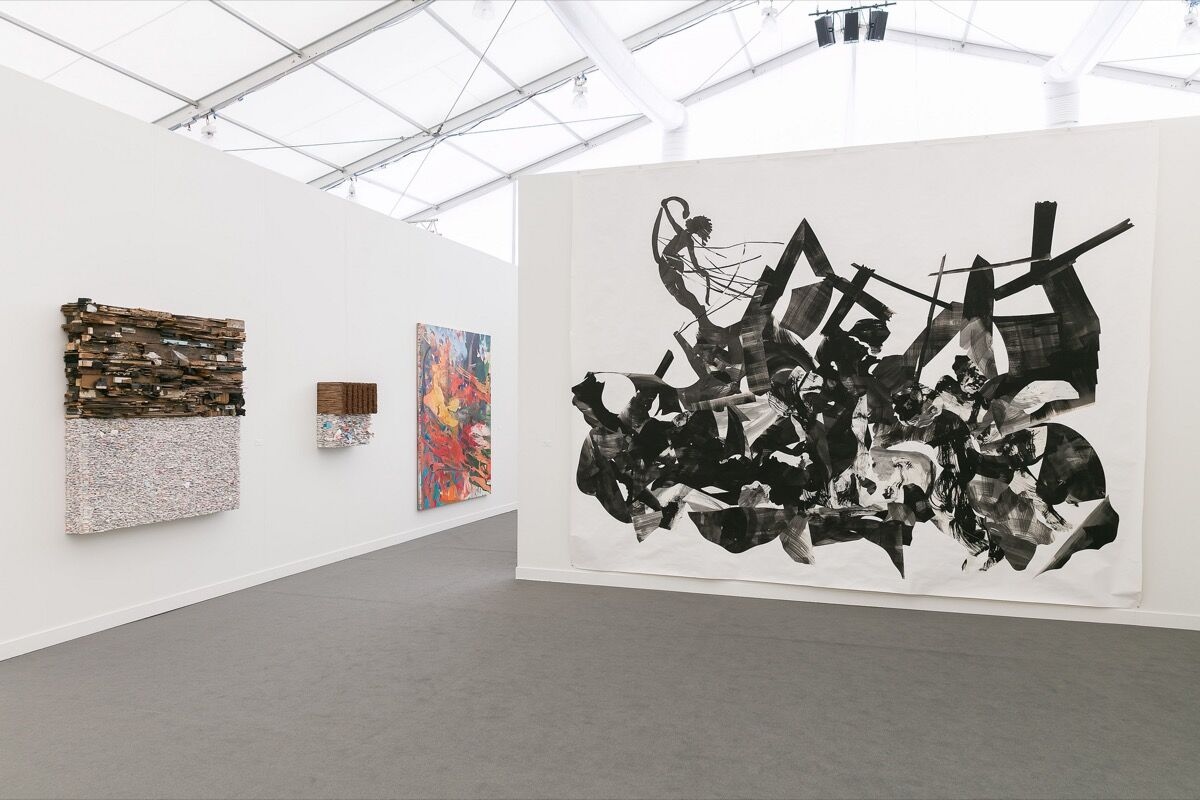 Installation view of Sikkema Jenkins & Co.'s booth at Frieze New York, 2018. Photo by Mark Blower. Courtesy of Mark Blower/Frieze.