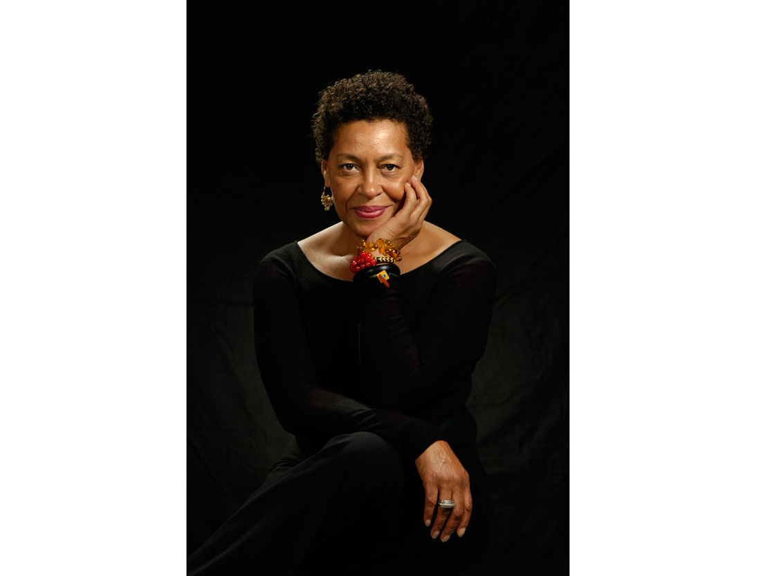 Portrait of Carrie Mae Weems by Jerry Klineberg, courtesy of Jack Shainman Gallery.