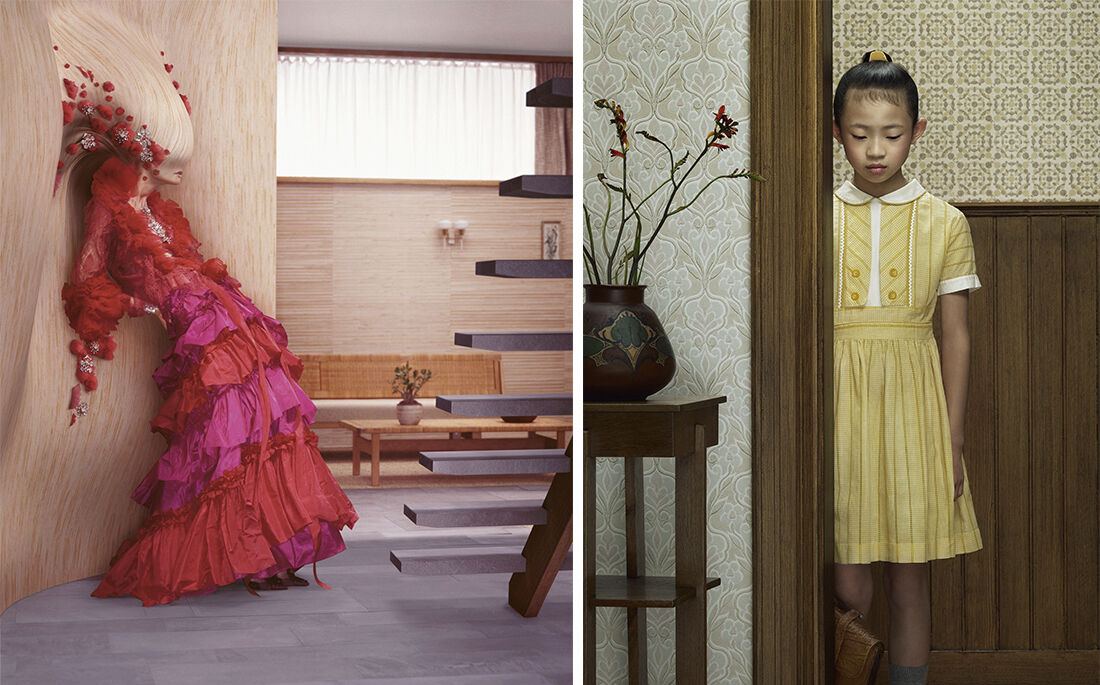 Erwin Olaf, Lacroix, 2006 and Keyhole 12, 2013. Courtesy Gallery Magda Danysz.