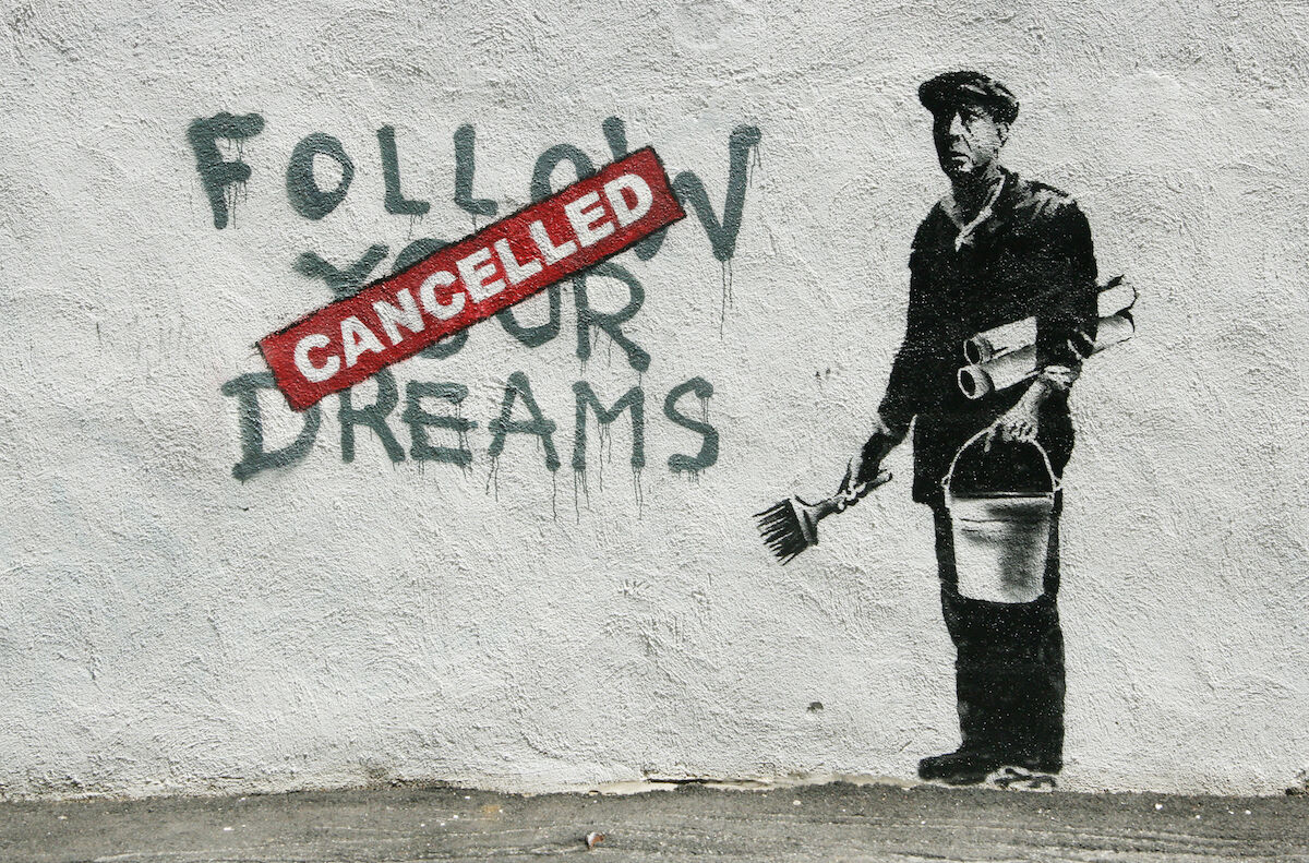 A Banksy mural in Boston. Photo by carnagenyc, via Flickr.