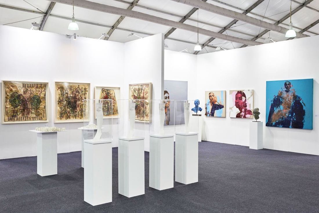 Installation view of .M Contemporary's booth at Art Central Hong Kong, 2017. Photo courtesy of .M Contemporary.