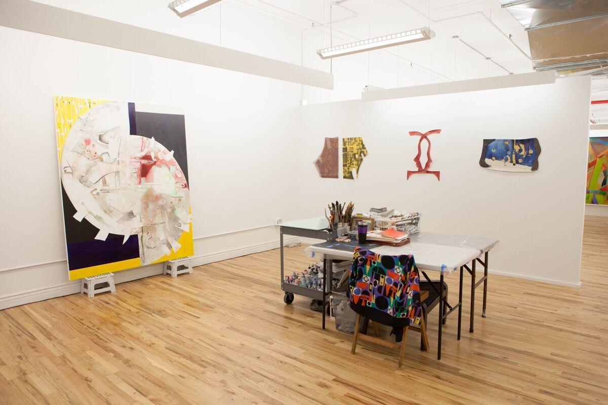 View of Sophie Grant's studio. Photo by Sara Luckey. Courtesy of Hercules Art Studio Program.