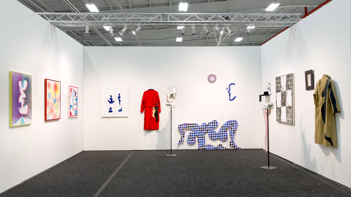 Installation view of works by Luc Paradis at Parisian Laundry's booth at NADA New York, 2016. Photo courtesy of Parisian Laundry.