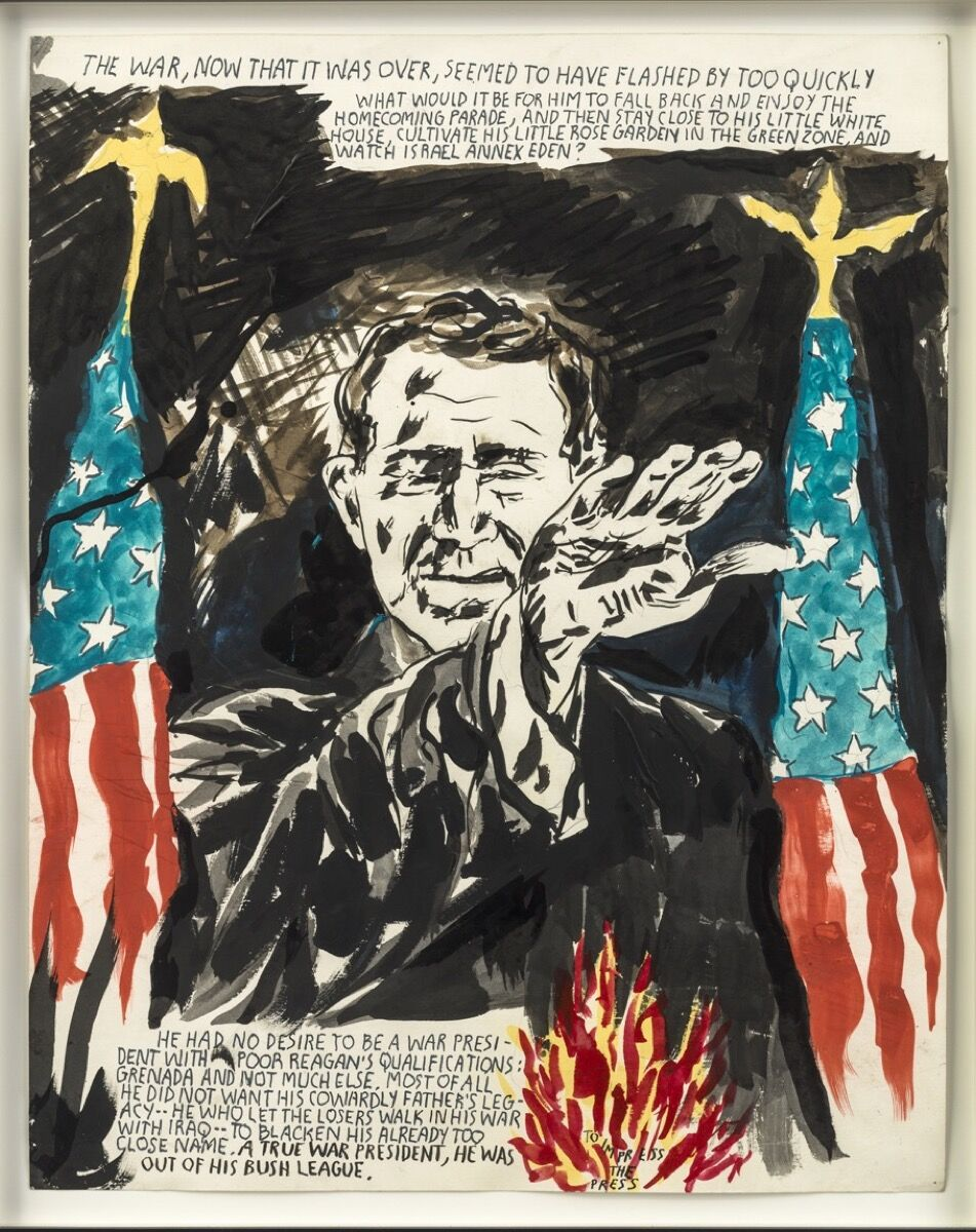 Raymond Pettibon, No Title (The war, now...), 2008. Courtesy David Zwirner, New York.