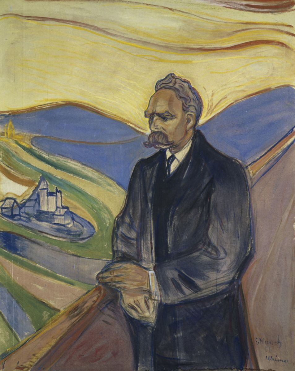 Edvard Munch, Portrait of Freidrich Nietzsche, 1906. Image via Wikimedia Commons.