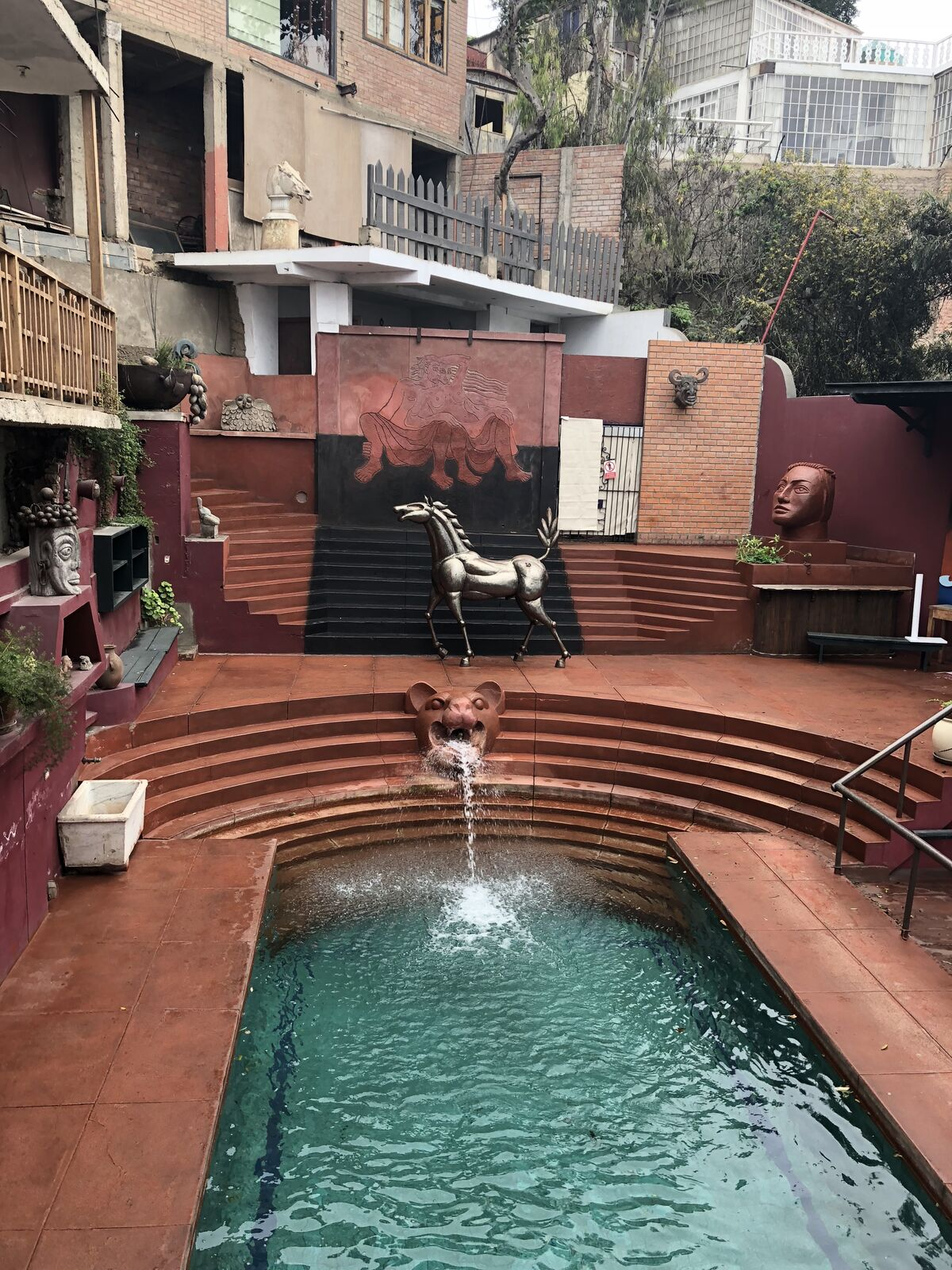 View of the swimming pool at Second Home Peru. Photo by Emily Ludolph. Courtesy of Emily Ludolph.