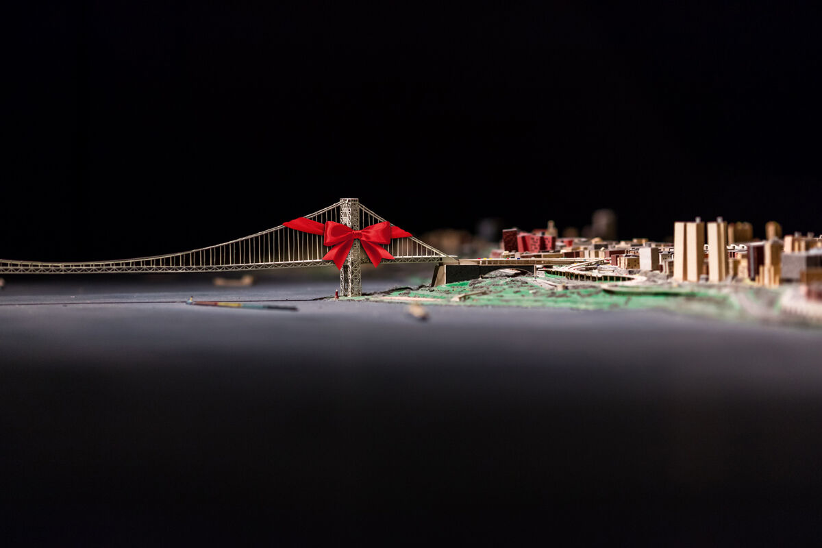 Panorama of the City of New York at the Queens museum, original photo by Max Touhey.