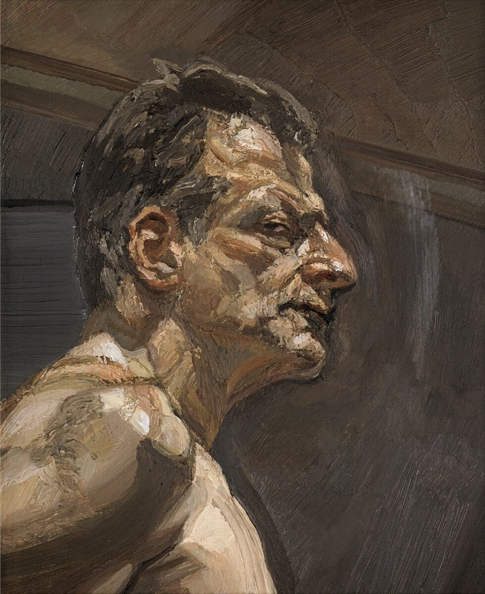 Lucian Freud, Reflection (Self-portrait), 1981–2. © The Lucian Freud Archive / Bridgeman Images. Photo by John Riddy. Courtesy of Phaidon.