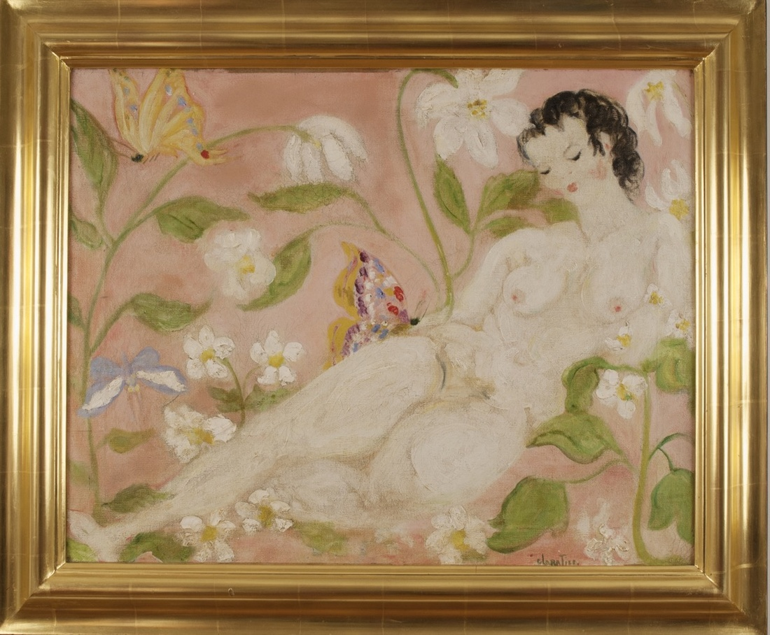 Clara Tice, Nude with Butterfly, n.d. Courtesy of Francis Naumann Fine Art.