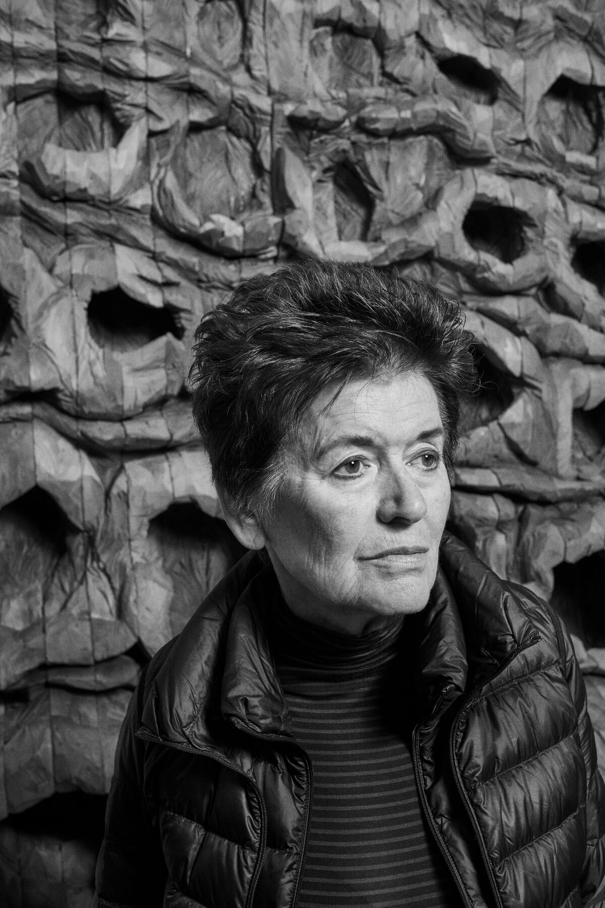 Portrait of Ursula von Rydingsvard by Alex John Beck for Artsy.
