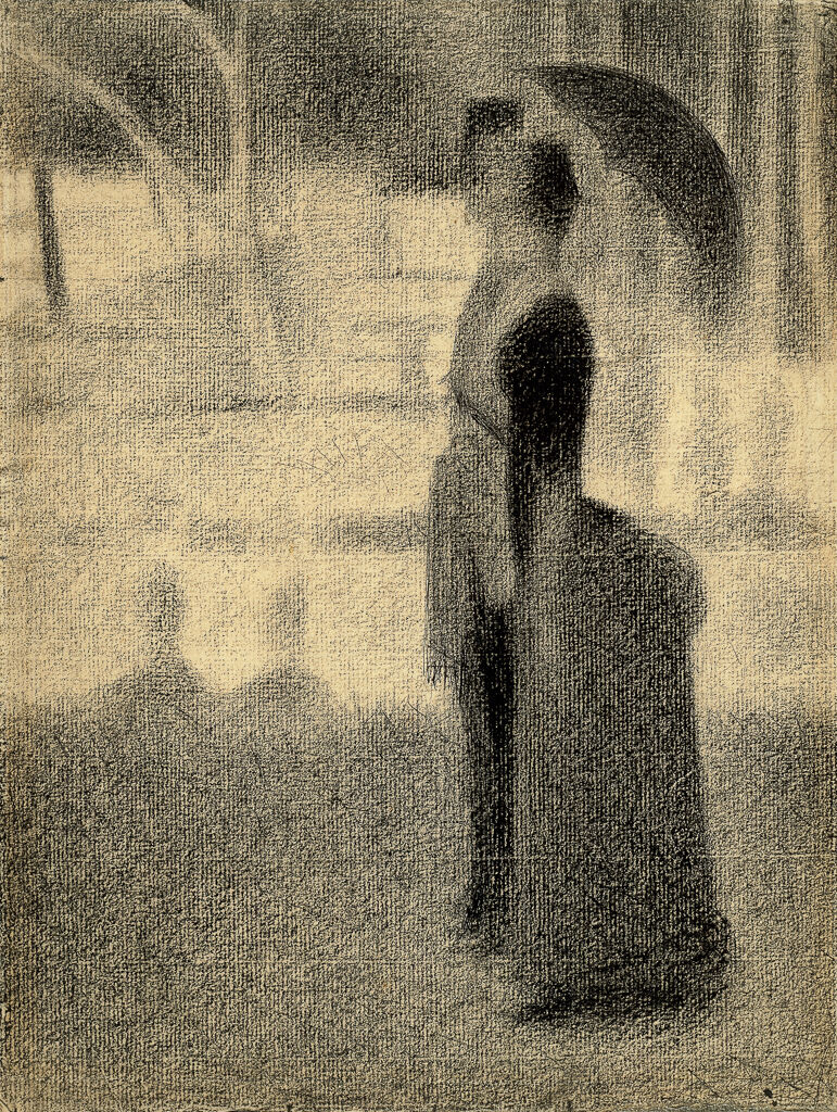 Georges Seurat, Study for La Grande Jatte, 1884. © The Trustees of the British Museum (2017). All rights reserved.
