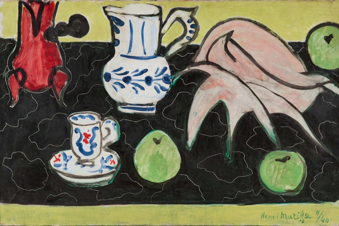 Henri Matisse, Still Life with Seashell on Black Marble, 1940. The Pushkin Museum of Fine Arts, Moscow. Photo © Archives H. Matisse. © Succession H. Matisse/DACS 2017. Courtesy of the Royal Academy of Arts.