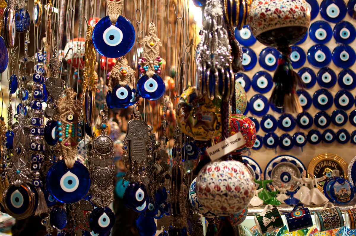 Contemporary nazar amulets, 2009. Photo by Marc Tarlock, via Flickr.