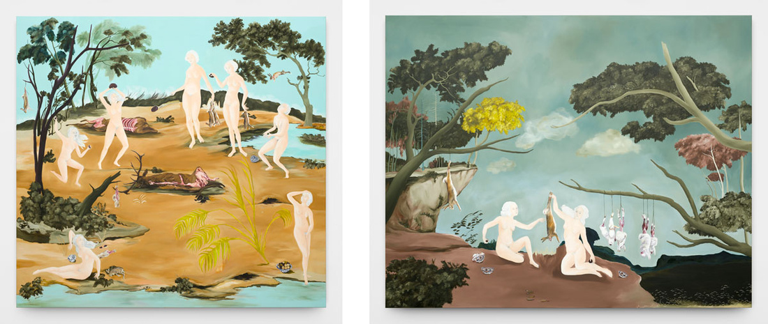 Left: Sanam Khatibi, No one's going quietly, 2016; Right: Sanam Khatibi, With tenderness and longing, 2016. Images courtesy of the artist.